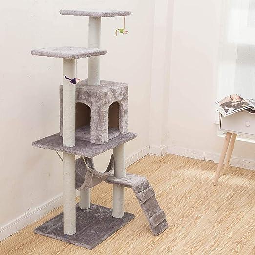 para Gatos con Árbol para Gatos Tongtianzhu Nido De Gato Gato Grande Tipo De Pared De Árbol De Una Pieza Material De Bricolaje Gato Juguete Cuatro Estaciones Universal-Gris Claro (ratón): Amazon.es: Productos