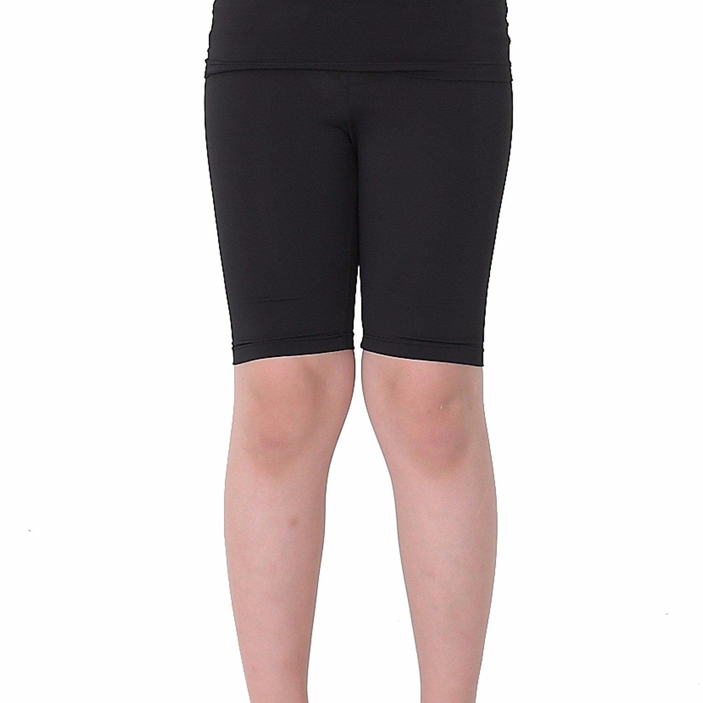 Kids Compression Shorts Underwear Youth Boys Spandex Base Layer Bottom Pants FK Black L