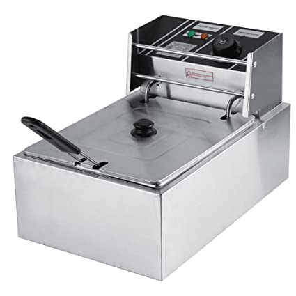 THE URBAN KITCHEN Stainless Steel Silver Electric Fryer 8 L Capacity