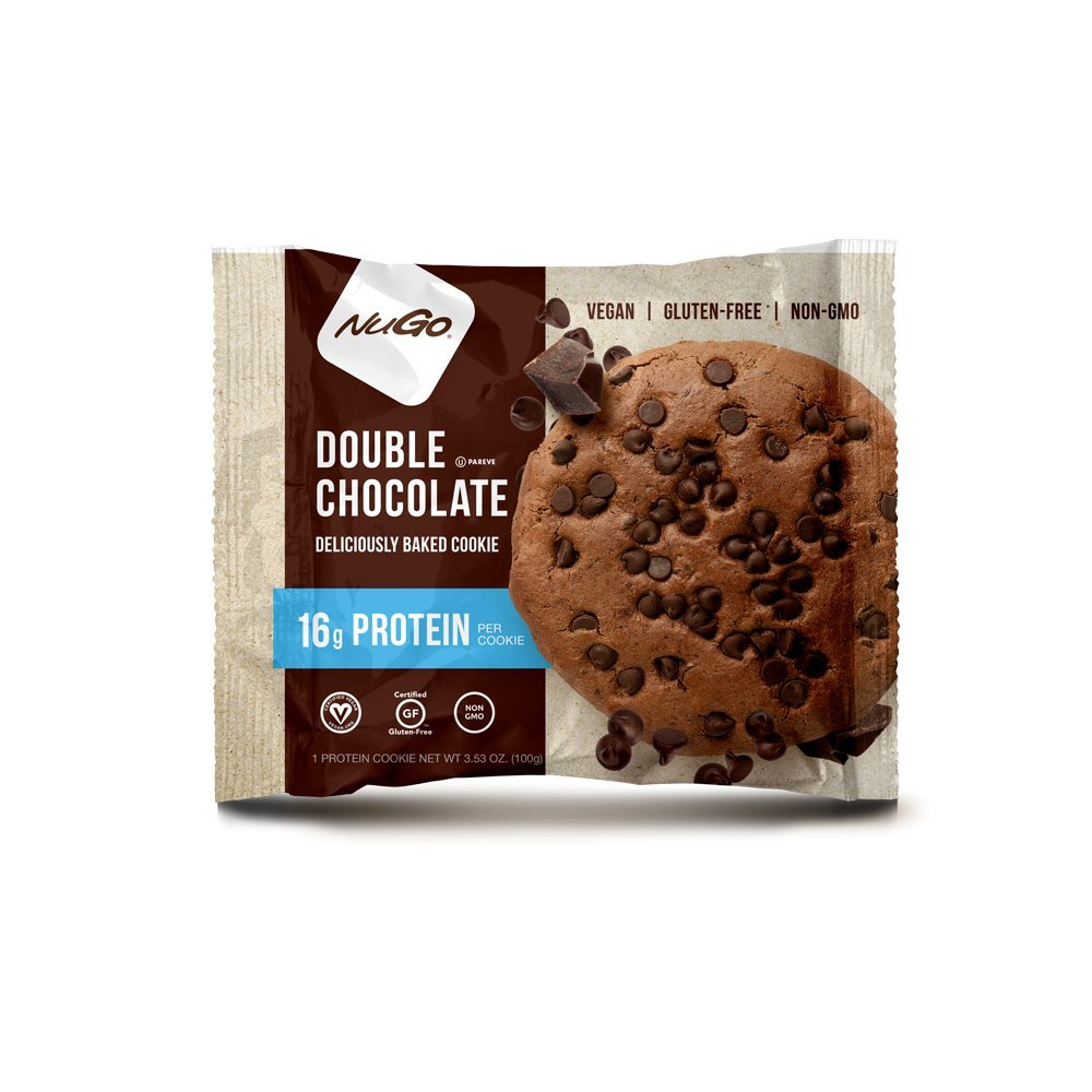 NuGo Gluten Free Protein Cookie, Double Chocolate, 3.53 oz, 12 Count
