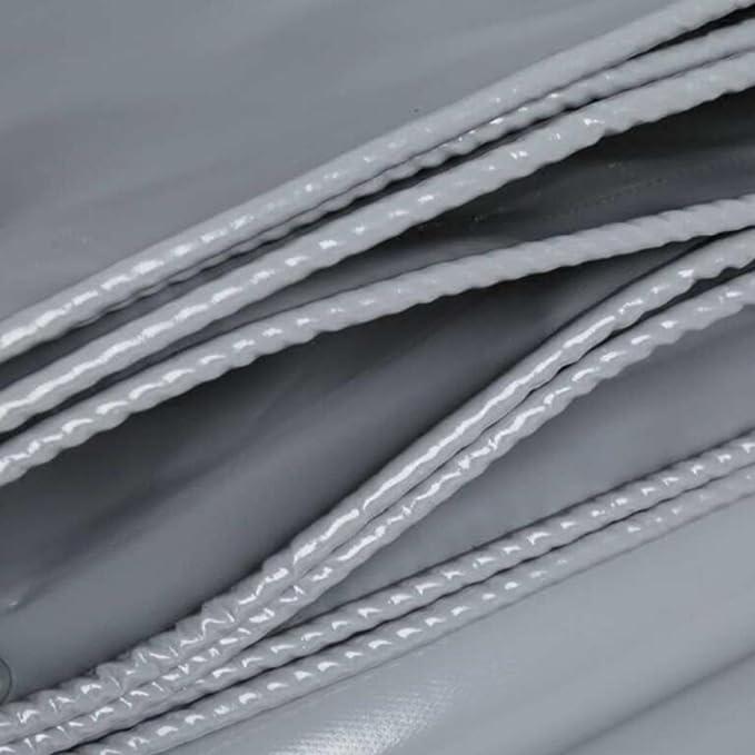 È ampiamente usato PJ Telo cerato Baldacchino Push-pull Protezione Ambientale Telone Panno Pioggia Impermeabile Protezione Solare Tre Anti-panno Grigio 550g \ ㎡ spessore 0.45MM