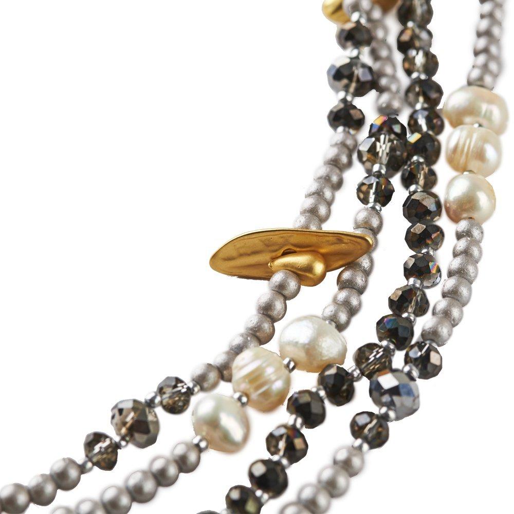 89e977bdadf2 LuckyLy - Collares de Mujer Largos Estilo Wrap - Collar Mujer Perlas Alice  Multi-Vueltas