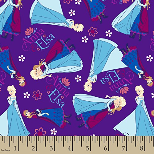 Disney Frozen Anna and Elsa Flannel Fabric, 42/43
