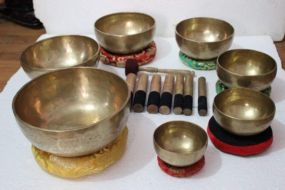全品送料0円 Nepal 5億チャクラ 5億チャクラ ヒーリング B07M6JTFPD チベットシンギングボウル 7個セット 7個セット ハンドハンマーヒマラヤ瞑想ボウル B07M6JTFPD, 日本橋箱崎町レストラン直送グルメ:69ba99cb --- a0267596.xsph.ru
