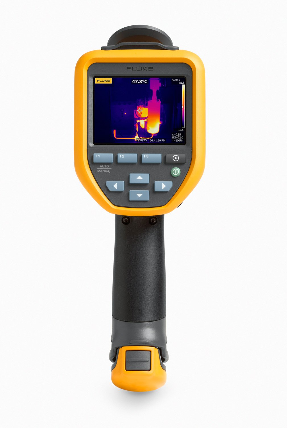 Fluke FLK-TIS65 30HZ Thermal Infrared Camera with IR-Fusion, Video Recording, Picture-in-Picture, Voice Annotations, Color Alarms, 3.5'' LCD, Manual Focus, 260x195 Resolution