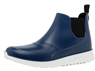 Regenstiefel Damen Kurzschaft Gummistiefel Herren Stiefeletten Boots Schwarz PVC Regen Boots 87jnjRXx