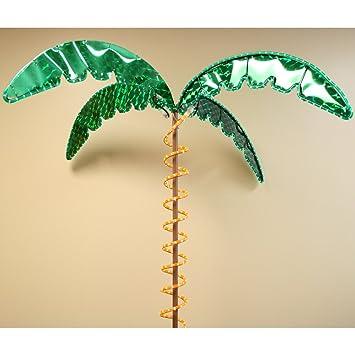 Roman Lights 169481 7 Feet Tall Holographic Ropelight Palm Tree Plugs In  Statue