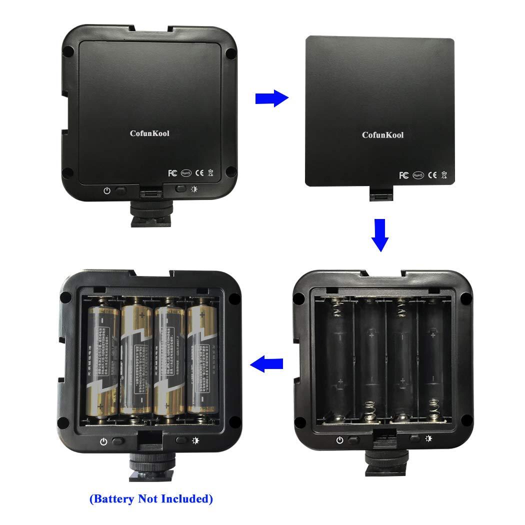 CofunKool Super Bright 64 LED Light Panel On Camera Light/Camcorder Video Light for Canon,Nikon,Panasonic,Sony,Samsung and Olympus Digital SLR Cameras (Battery NOT Included)
