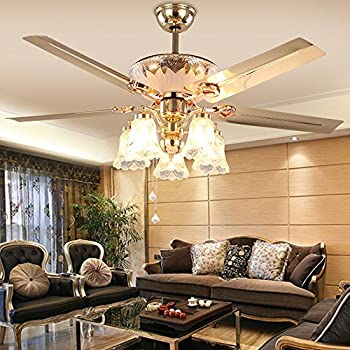Akronfire Classical Style Ceiling Fan Light For Dining Room And Living Pull Rope Control The