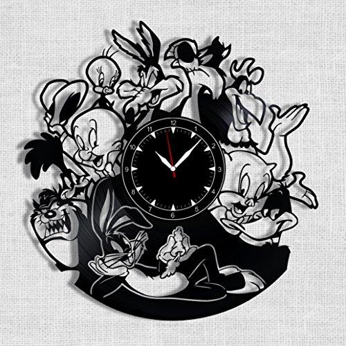 Looney Tunes Vinyl Record Clock - Looney Tunes Wall Clock - Best Gift Fans Looney Tunes - Original Wall Home Decor]()