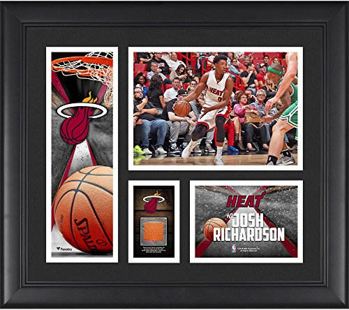 """Josh Richardson Miami Heat Framed 15"""" x 17"""" Collage with a Piece of Team-Used Ball - Fanatics Authentic Certified"""