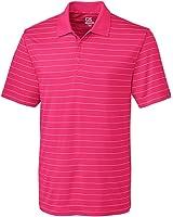 Cutter & Buck Men's Breathable, 15+ Upf Franklin Stripe Polo Shirt