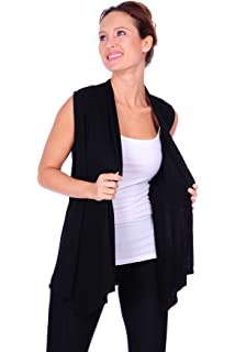 80632f2d2c3452 BNY Corner Women Plus Size Sleeveless Cardigan Open Front Casual ...