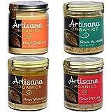 Artisana Organics - Nut Butters Variety 4-Pack, USDA Organic Certified and Non-GMO (Almond, Cashew, Walnut and Pecan, 8 oz)