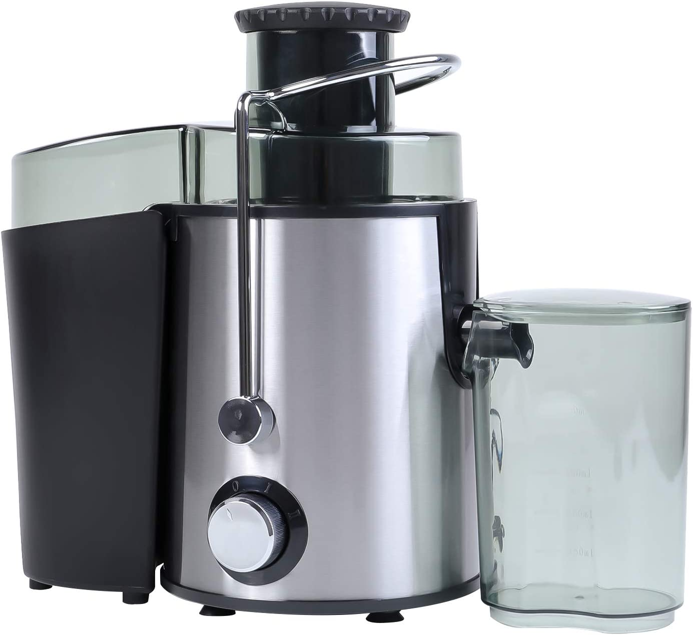 WOOW DEPOT Juicer Machines Large Feed Chute Electric Juice Extractor Stainless Steel Centrifugal Juicer with Reverse Function 2 Speed Large Capacity Easy to Clean for Fruits and Vegetables, Silver
