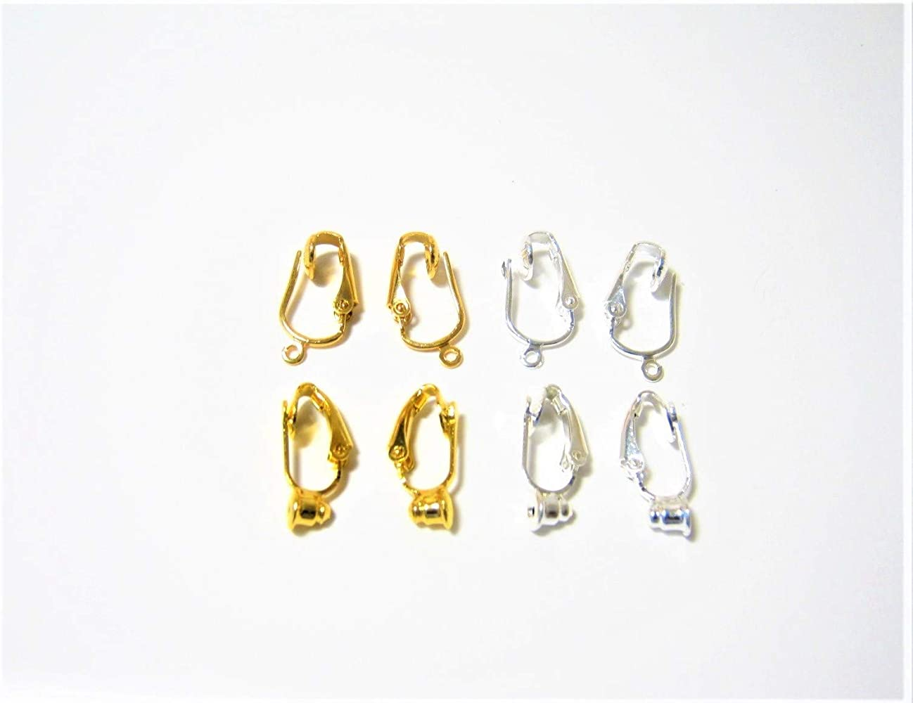 c5f012fd0 Earring Converters Clip on for Post and Drop Style Earrings-4 Pair Variety  Kit