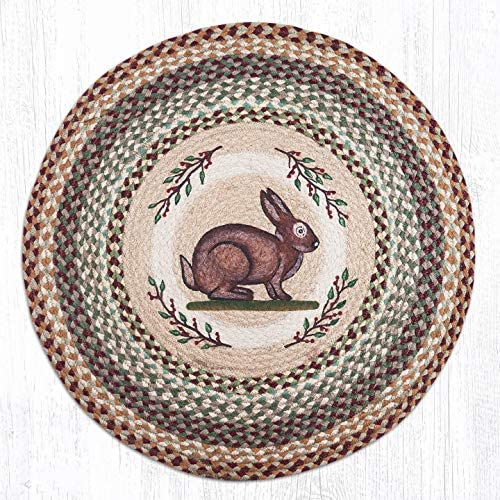 Earth Rugs Round Rug, 27 x27 , Brown