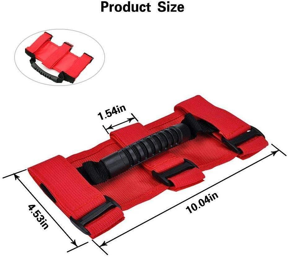 Black 4 x Roll Bar Grab Handles Grip Handle for Jeep Wrangler Jeep Wrangler Accessories YJ TJ JK JKU JL JLU Sports Sahara Freedom Rubicon X /& Unlimited 1987-2020