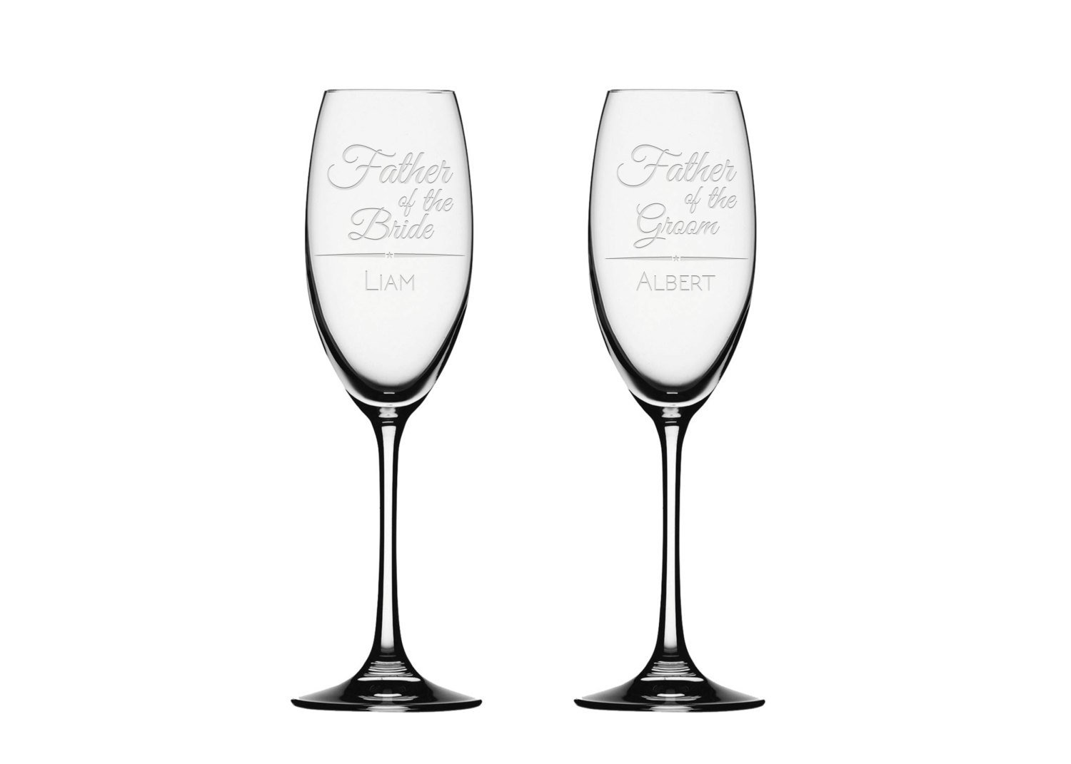 Amazon 2x Champagne Flute Father Of The Bride Champagne Glass