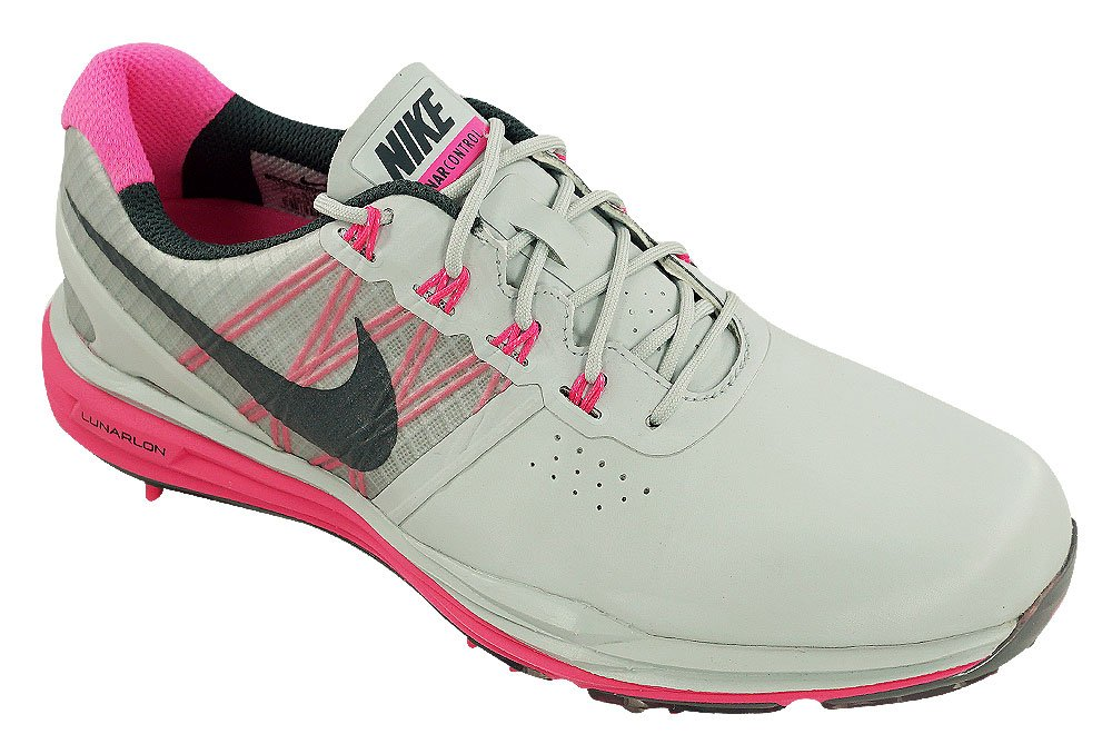 Nike Women's Lunar Control Golf Shoes (7.5, Pure Platinum/Pink Pow/Charcoal)