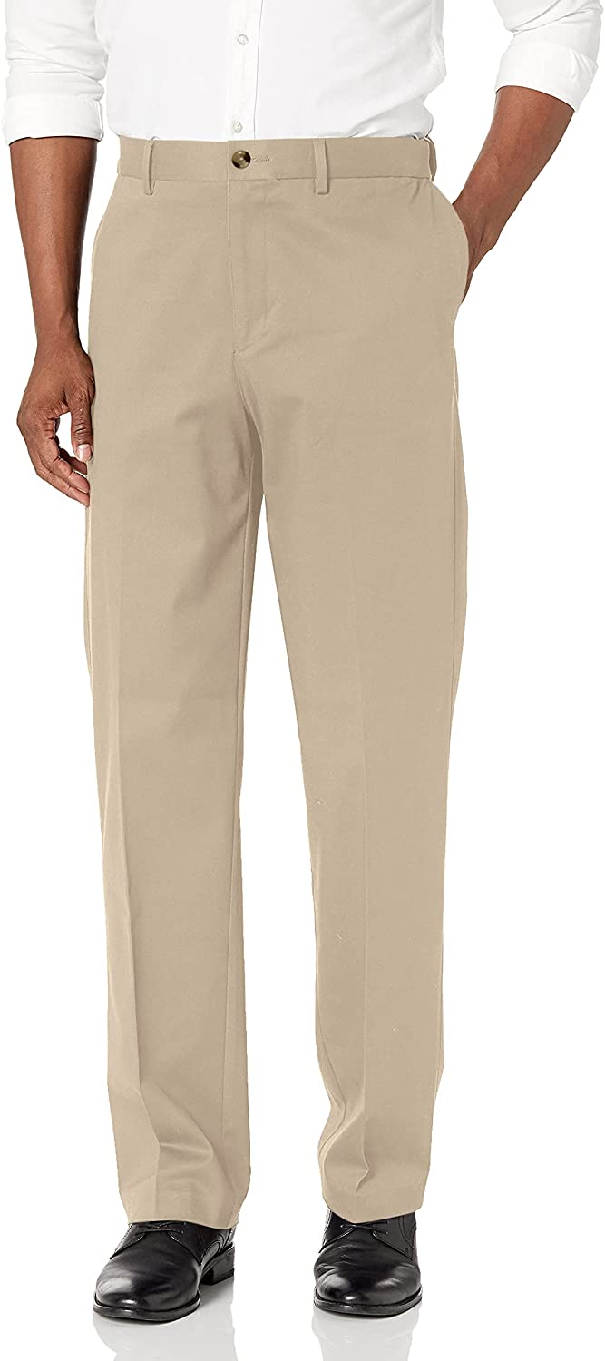 Savane Men's Memphis Mall Flat Front Chino Stretch Excellence Ultimate Performance