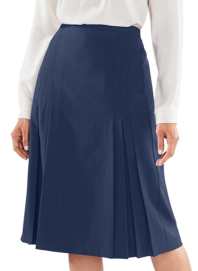 1930s Style Skirts : Midi Skirts, Tea Length, Pleated Tucks & Pleat Skirt $31.99 AT vintagedancer.com