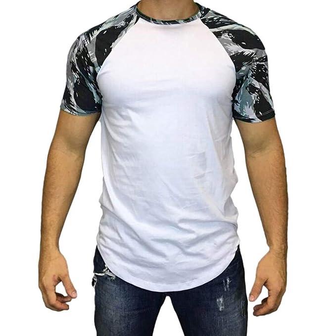 Camiseta Hombre Gym,EUZeo Rebajas,Camisa Manga Corta Verano Básica Sudadera de Athletic Running