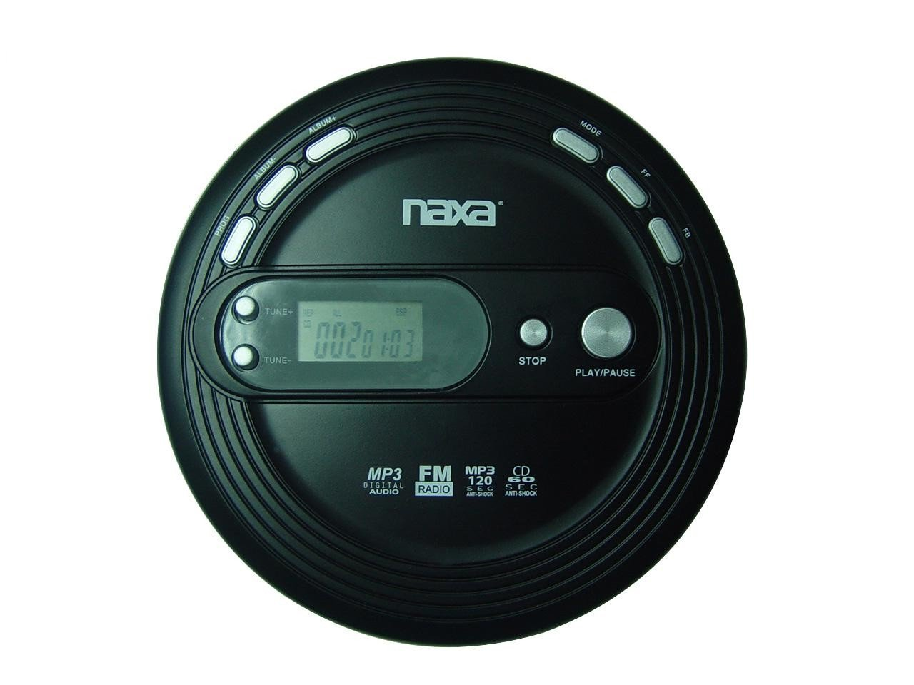 NAXA Electronics NPC-330 Slim Portable Cd and MP3 Player with FM Radio & Anti-Shock Technology