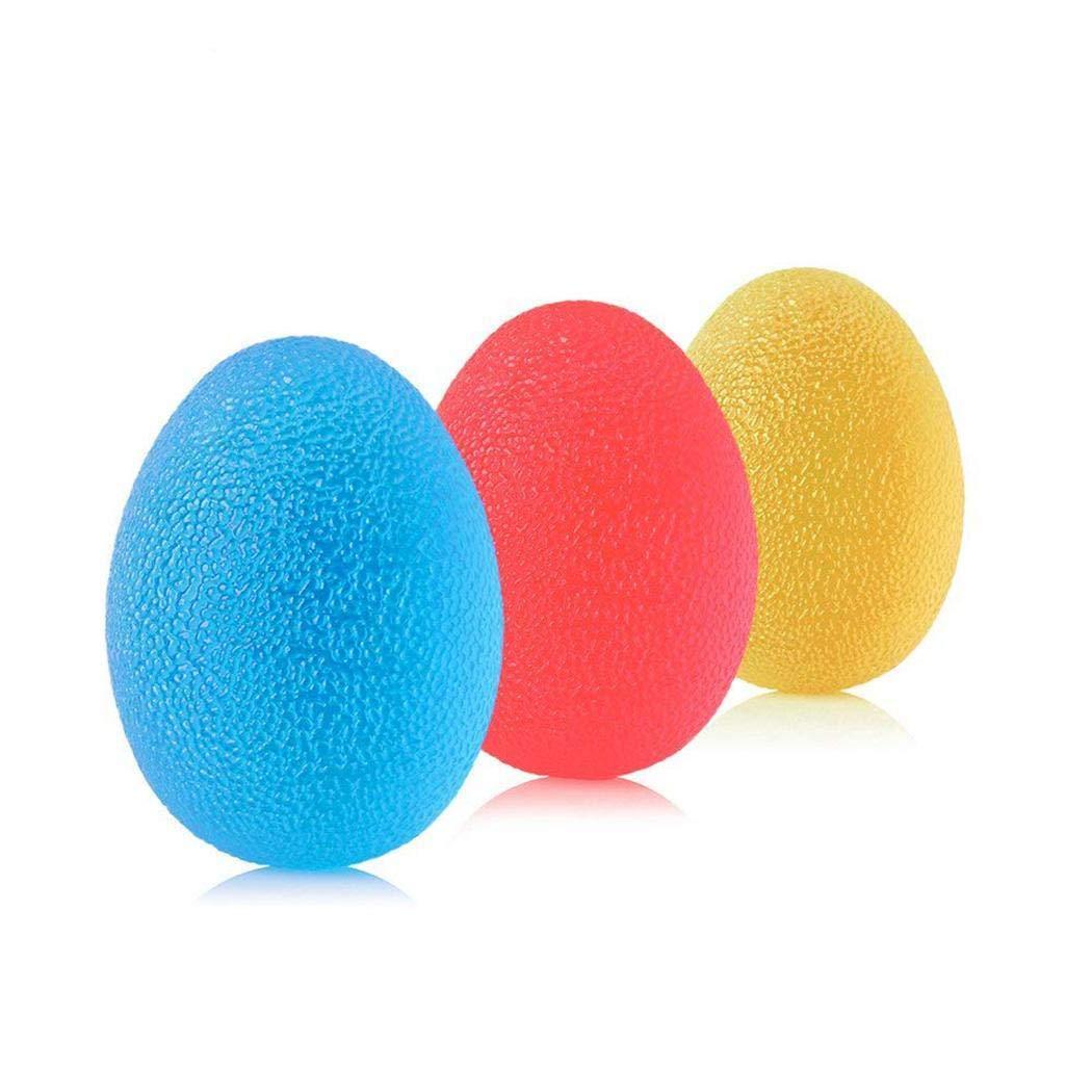 loukou 高伸縮グリップ ボール ハンド機能 リハビリテーション トレーニングボール 指マッサージ ハンド強化 Egg  B07K2Y8RVY