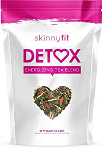 SkinnyFit Detox Tea: All-Natural, Laxative-Free, Supports Weight Loss, Helps Reduce Bloating, Natural Energy, Supports Immune System, Vegan, 28 Servings