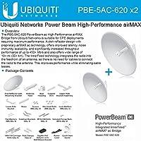 Ubiquiti PBE-5AC-620 2-PACK PowerBeam AC 5GHz 29dBi 620mm 450+Mbps 30+km airMAX