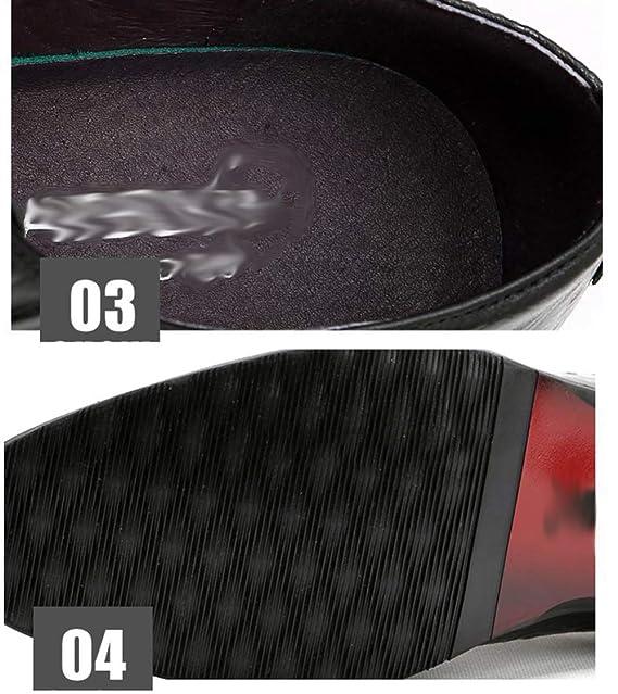 RSHENG Los Zapatos Oxford Del Cordón De La Tendencia De Los Hombres Del Otoño Zapatos Del Negocio Del Cocodrilo Calzan Los Zapatos De La Boda,Black-44EU: ...