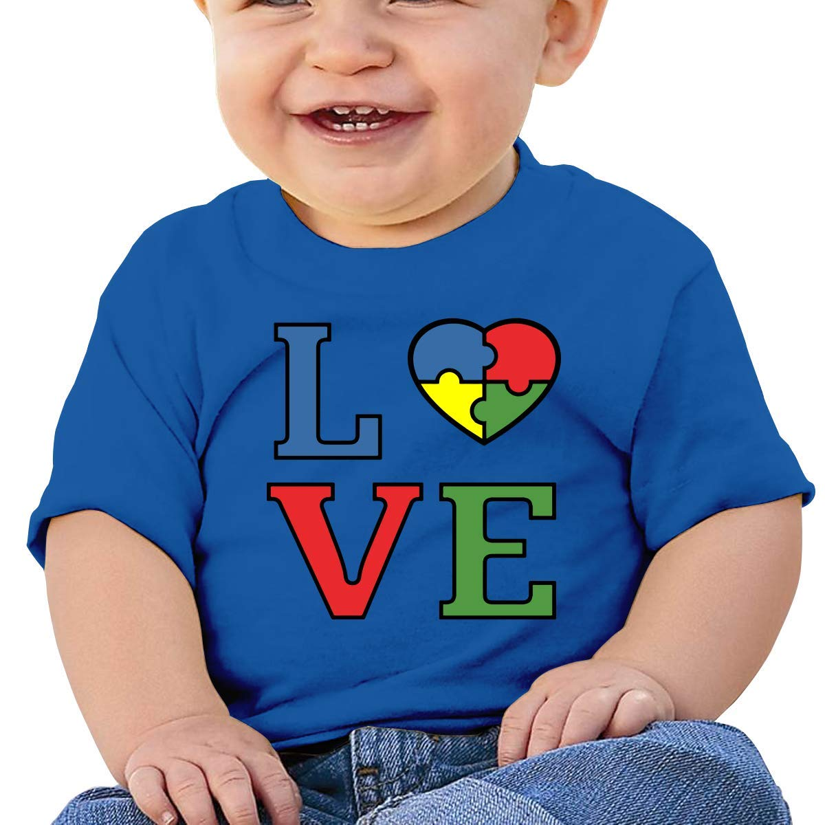 ZhuHanug Ironworker America Flag Newborn Baby Short Sleeve Crewneck T-Shirt