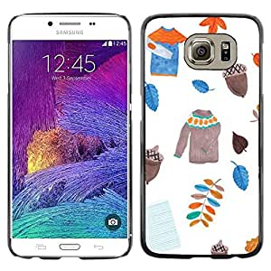 Plastic Shell Protective Case Cover || Samsung Galaxy S6 SM-G920 || Leavers Sweater White Acorn @XPTECH