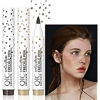 Freckle Pen, 2 Colors Freckle Stamp Fake Freckles Makeup Pen Light Brown & Dark Brown Faux Freckles, Long Lasting…