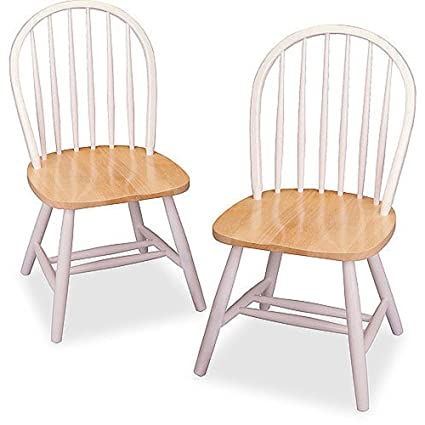 Winsome Wood Windsor Chair, White, Set Of 2 (White)