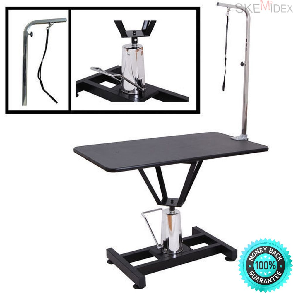 SKEMIDEX---Hydraulic Grooming Table | 36'' x 24'' inch Heavy Duty Adjustable Dogs Cats Pets And Pet Shedding Tools And Pet Grooming Supplies