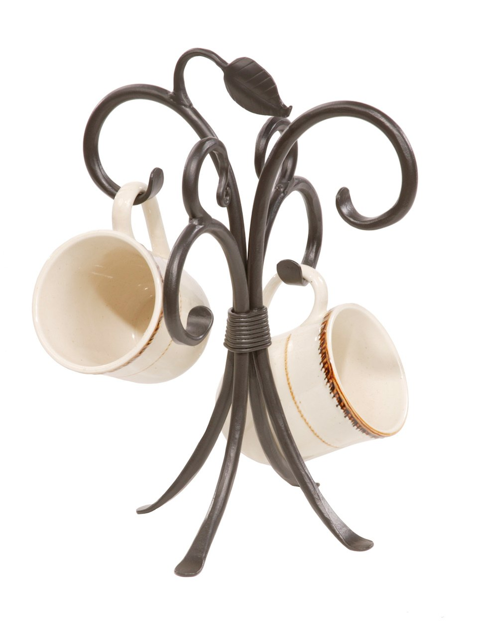 Stone Country Ironworks 205751-OG-142822-O-759572 Sassafras Mug Rack Woodland, brown
