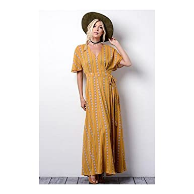 ed81752ef4 Image Unavailable. Image not available for. Color  Love on the Brain Kimono  Maxi Dress