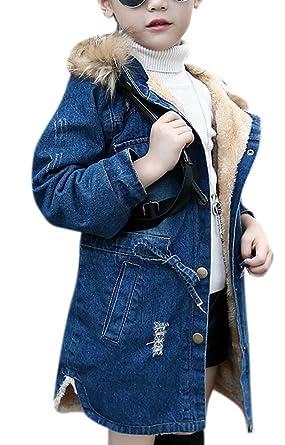 ebfd0ff00906 Amazon.com  Big Kids Girls Fleece Lined Hooded Warm Winter Thicken ...