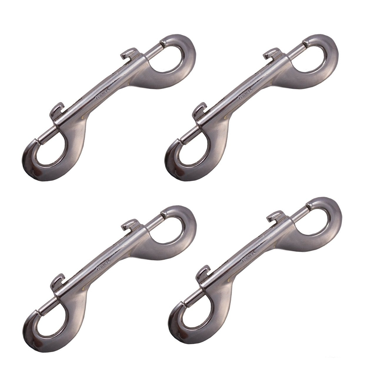 Double Ended Bolt Snap Plated Trigger Lot of 4