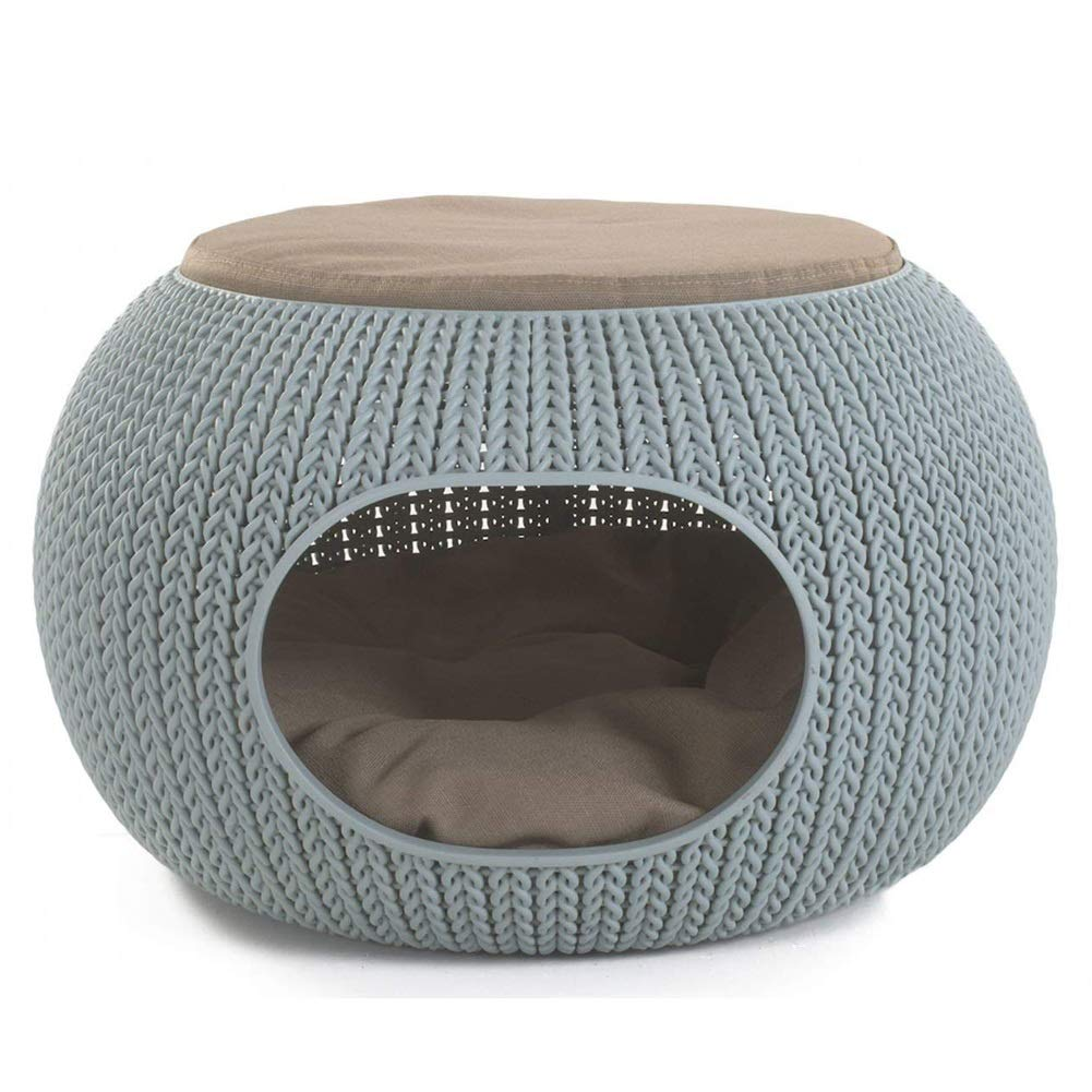 PLDDY pet bed Pet Cat Nest Room, Luxury Lounge Pet Bed House with Cushion, Round Cat Nest,Fully Enclosed Design, for Cats and Small Dogs