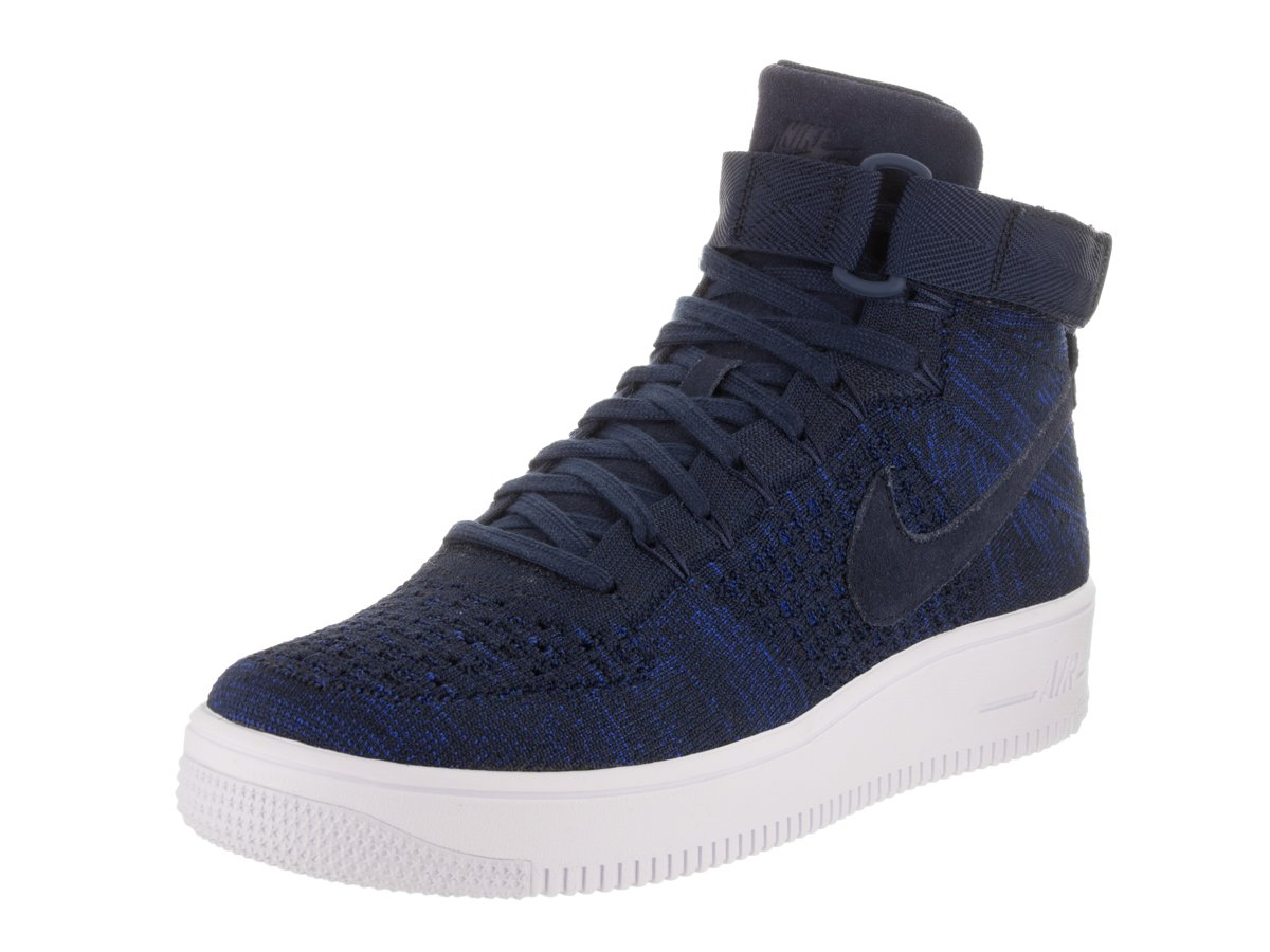 size 40 2d78a 6fa63 Galleon - Nike Air Force 1 Ultra Flyknit Mid Top Sneakers Mens 817420-004  Size 8 BlackWhite
