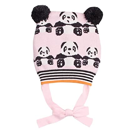 Happy Cherry Bonnet en Laine Bébé Fille Garçon Bonnet Animal Panda Bonnet  Tricot Hiver Enfant Chapeau 6a844db47f9