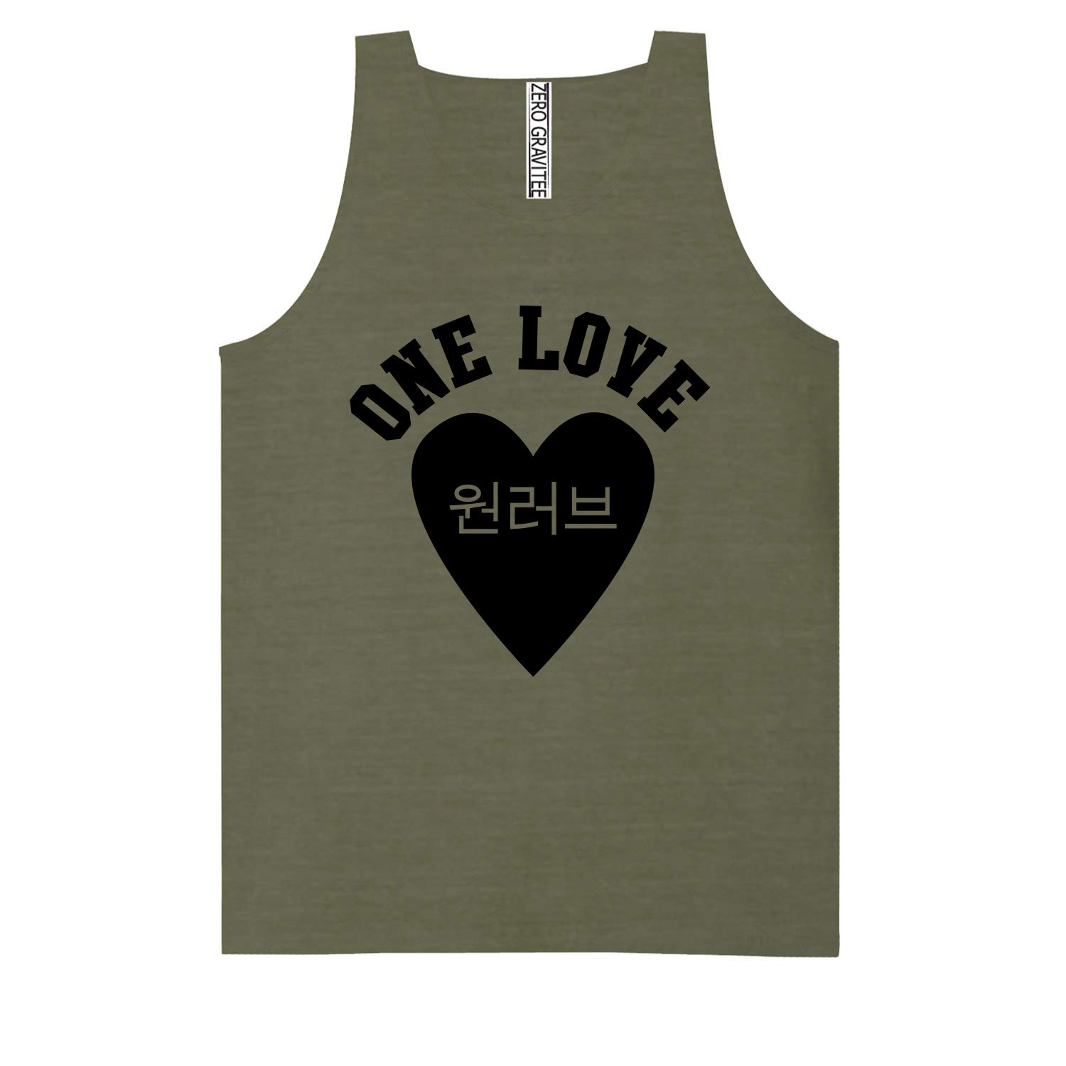 Korean One Love Adult Pigment Dye Tank Top in Smoke Grey - XX-Large