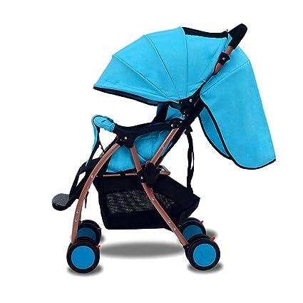 ZHAOJING Los cochecitos de bebé pueden sentarse la luz reclinable del paraguas del bebé La luz
