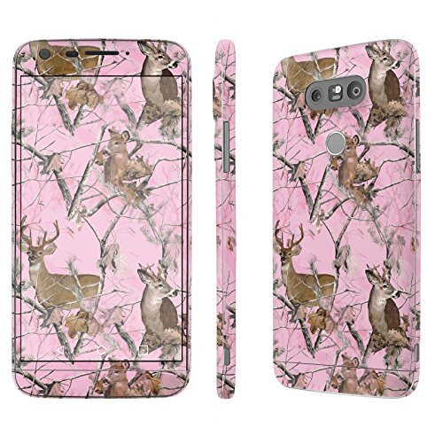 [LG G5] Skin [NakedShield] Scratch Guard Vinyl Skin Decal [Full Body Edge] [Matching WallPaper] - [Pink Deer Camouflage] for LG G5