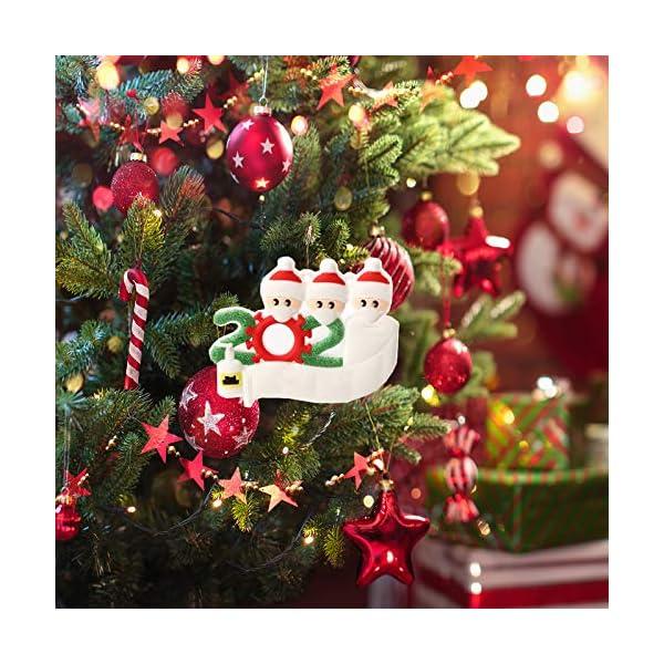 Hbsite Ornamento di Natale Ciondoli di Natale 2020 Quarantena Personalizzata Famiglia Ornamenti per L'Albero di Natale Decorazione Sopravvissuto Regalo Creativo Personalizzato (Famiglia di 3 Persone) 6 spesavip
