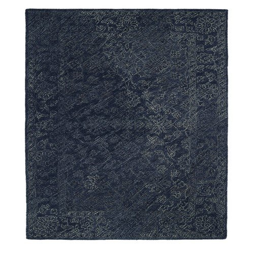 Kaleen Rugs Montage Collection MTG09-10 Denim Hand Tufted 8 x 10 Rug