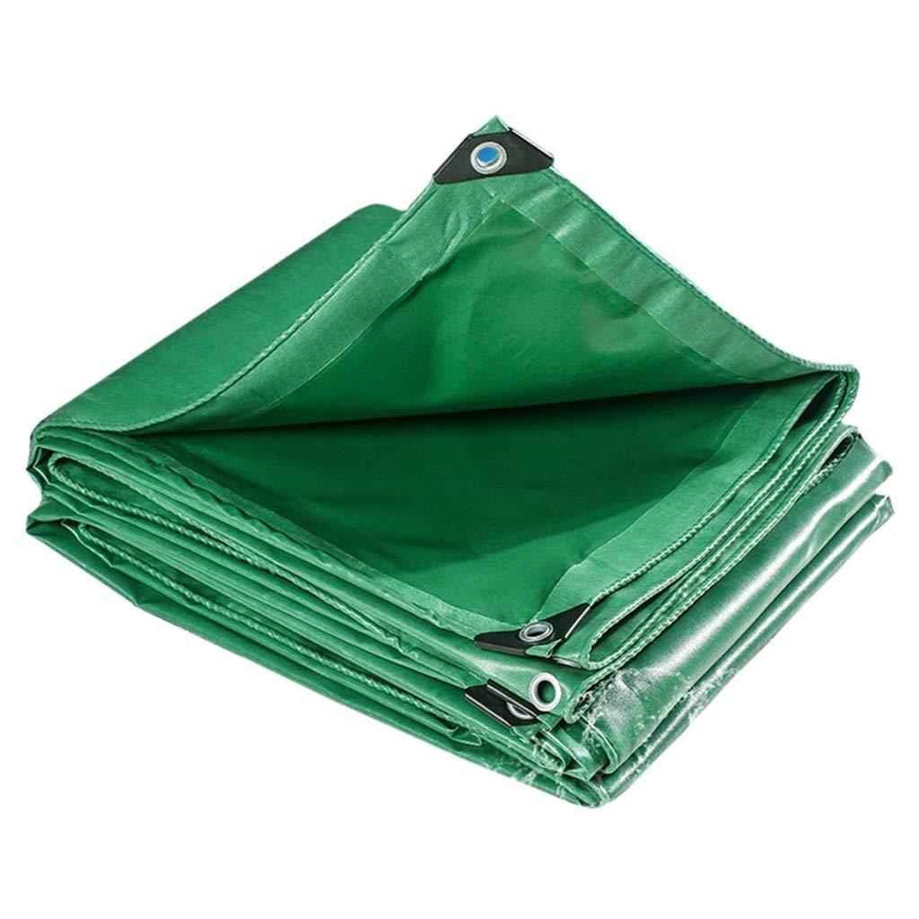 ターポリン アイレットが付いている頑丈な防水ターポリン、ポリ塩化ビニールの日焼け止めの防水シートシートの防雨の日除けの小屋の布 - 520g / mの²、緑 (Size : 3mx4m) B07SF6517Y  3mx4m